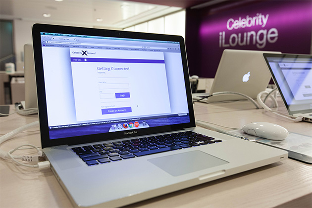 Macbook Pro at Celebrity Silhouette's iLounge