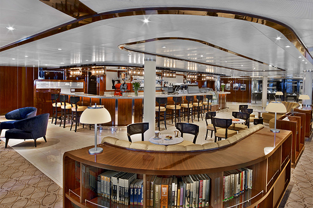 Rendering of the Seabourn Square cafe and seating area on Seabourn Encore