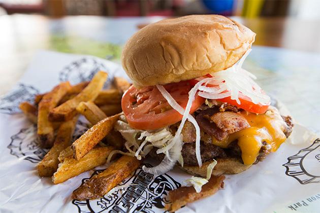 Burger onboard Carnival Triumph