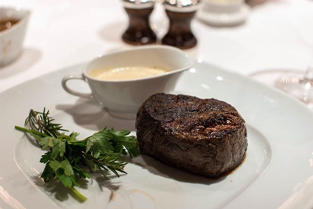 Steak at Noordam's Pinnacle Grill