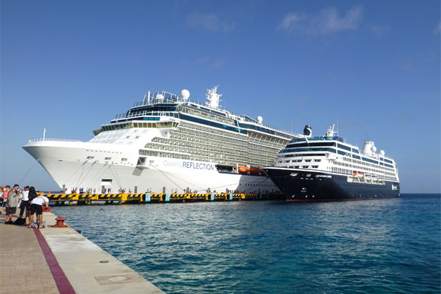 Size comparison between Celebrity Reflection and Azamara Journey