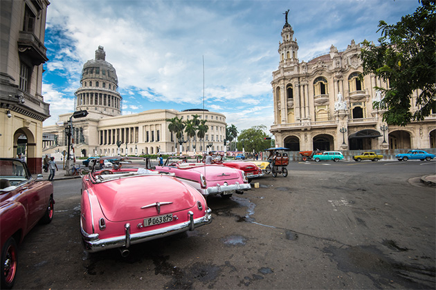 One day in havana for cruise passengers cruise critic classic american car and capitolio landmark in havanacuba stopboris Gallery