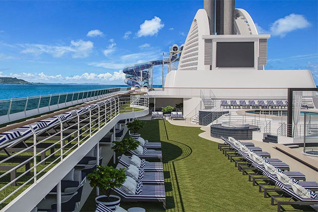 Rendering of the sun deck on Pacific Explorer