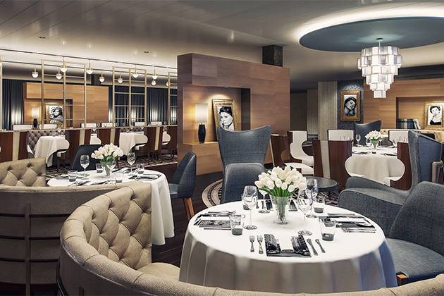 Rendering of the interior of Angelo's Italian on Pacific Explorer