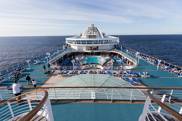 Pool deck on Crown Princess