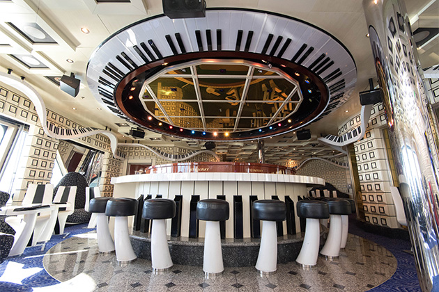 The Piano Man Bar on Carnival Liberty