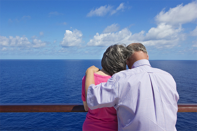 Senior Couple on a Cruise Vacation