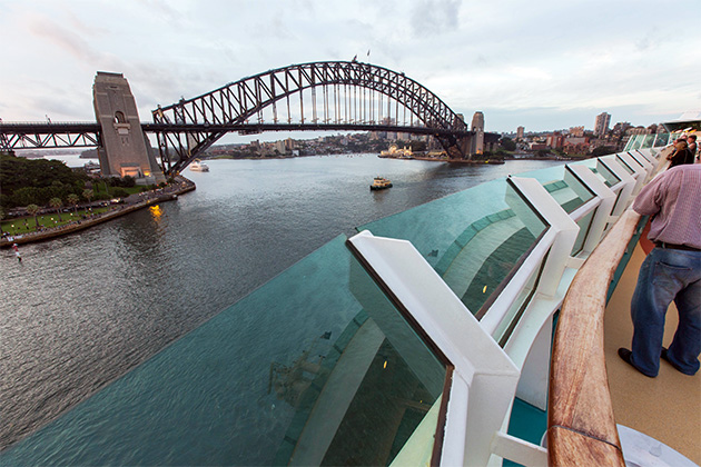 View of the Sydney brideg from Radiance of the Seas sun deck