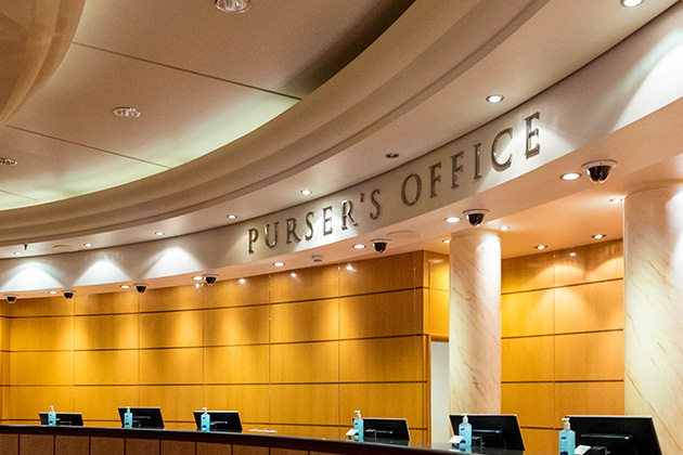 The Purser's Office on Queen Mary 2