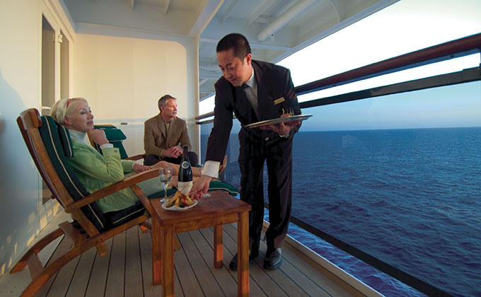 Butler Service on a Cunard cruise