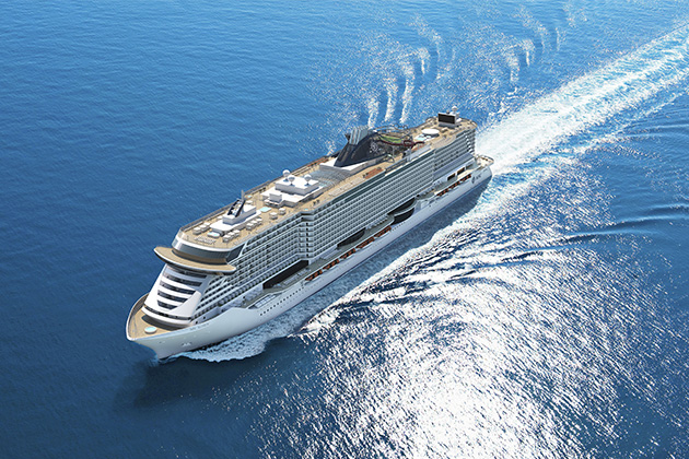 Rendering aerial of MSC Seaside