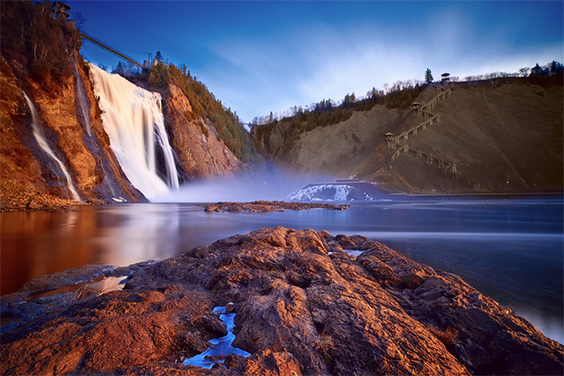 Montmorency Falls at sunset