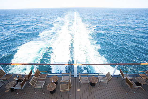 View of the wake on Celebrity Solstice