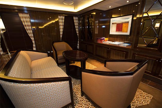Concierge Lounge seatin area on Regal Princess
