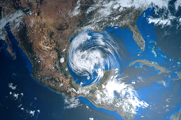Hurricane approaching Texas