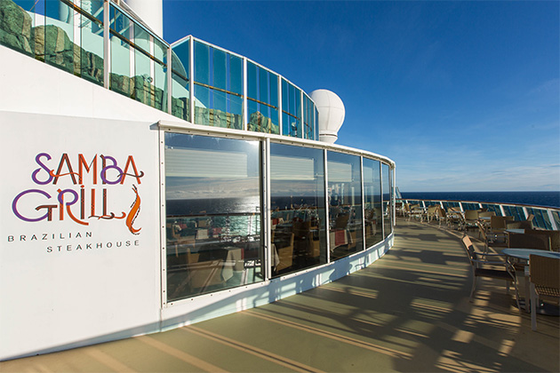 Exterior shot of Samba Grill on Radiance of the Seas
