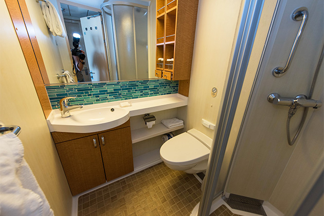 Redesigned bathroom on Oasis of the Seas
