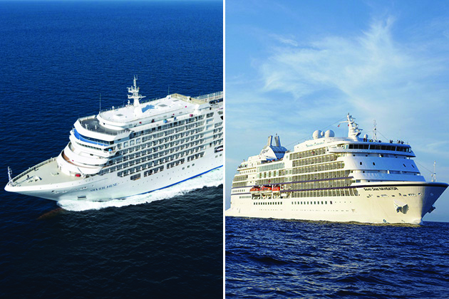Composite photo of Silver Explorer and Seven Seas Navigator