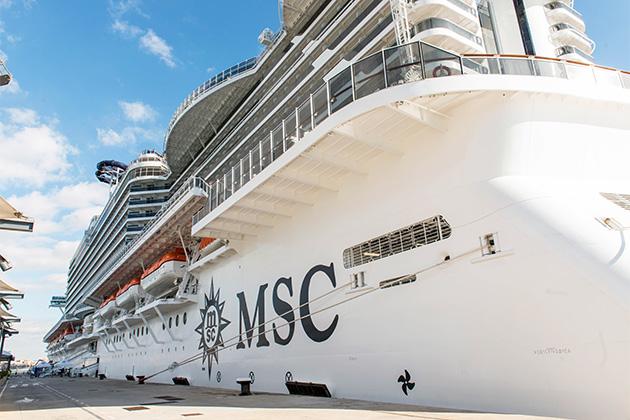 MSC Seaside in port