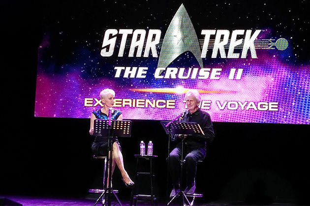Nana Visitor and Rene Auberjonois (Kira Nerys and Odo, respectively, both of 'Star Trek: Deep Space Nine') read from an eclectic mix of short plays and poetry
