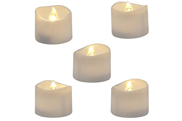 Homemory Realistic and Bright Flickering Bulb Battery Operated Flameless LED Tea Lights
