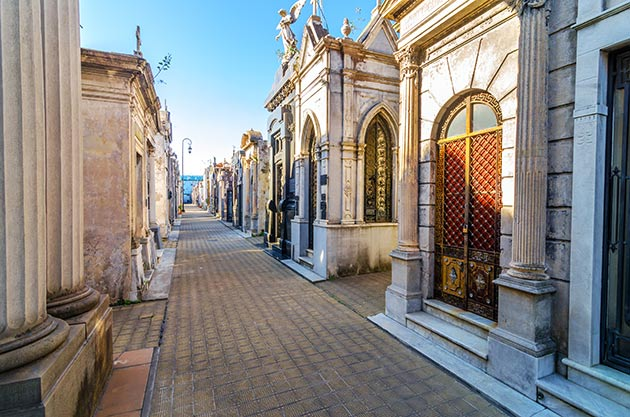Recoleta Cemetery, the most important and famous cemetery in Argentina.