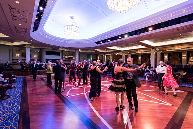 Dancing in the Queen's Room on Queen Mary 2