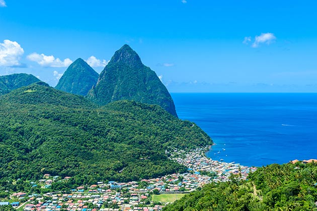 Gros and Petit Pitons near Soufriere