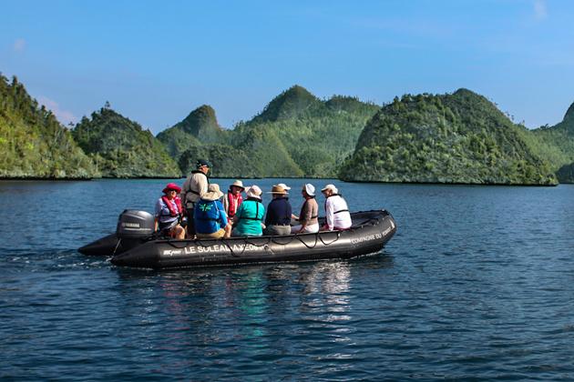 Zodiac Excrusion in Triton Bay, Indonesia