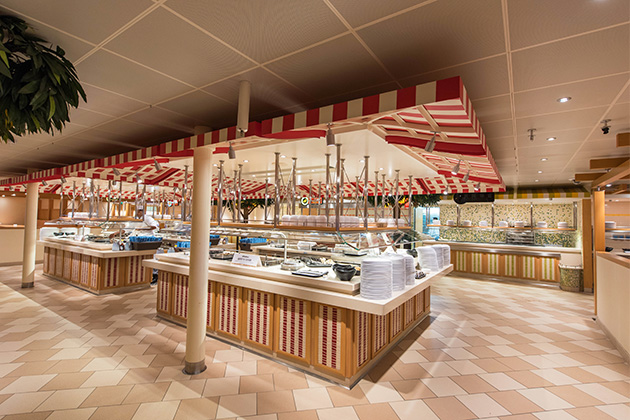 The Lido Marketplace onboard Carnival Horizon
