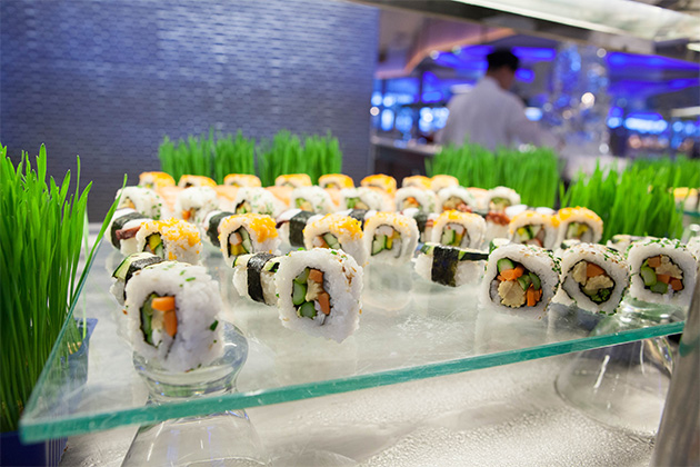 Sushi at The Oceanview Cafe onboard Celebrity Eclipse