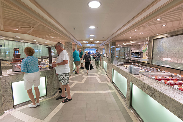 Princess Cruises' Horizon Court buffet on Royal Princess