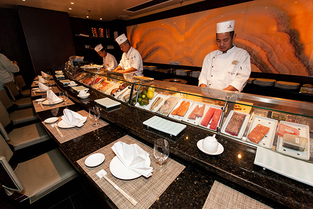 Crystal Cruises' Silk Road sushi restaurant.