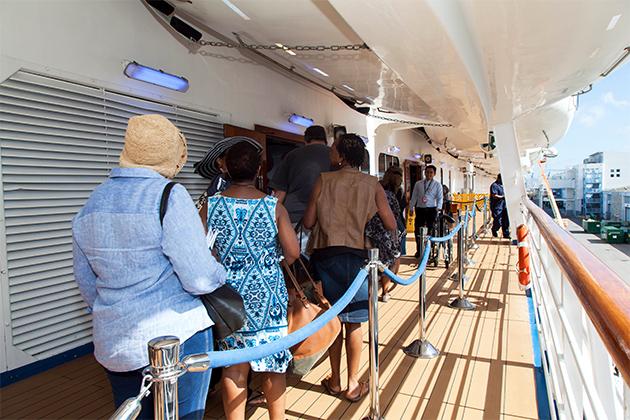 Passengers boarding Carnival Splendor