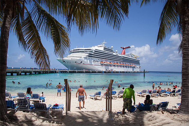 Exterior shot of Carnival Sunshine in Grand Turk