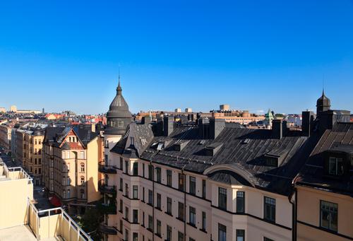 Rooftops in Stockholm, Sweden