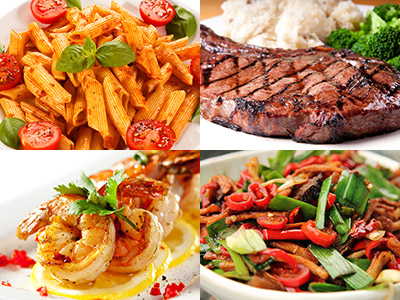 Foods for every taste - photos courtesy of Shutterstock