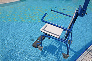 pool lift for wheelchair access