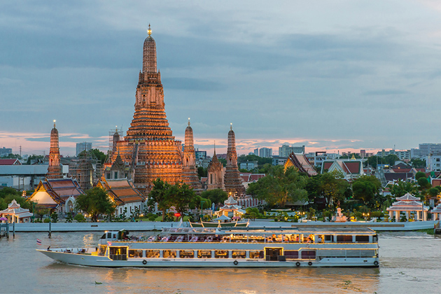 Asian river cruise