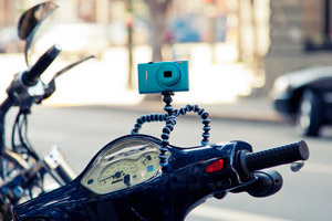 GorillaPod mounted on a motorcycle