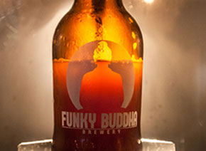bottle of funky Buddha beer