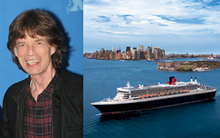 Celebrities at Sea Mick Jagger on Queen Mary 2