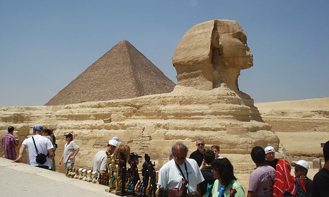 The Sphinx at the Giza Plateau