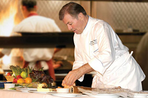 Chef Jacques Pepin Making Food in the Kitchen