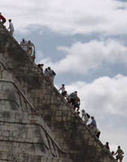 Climbing Mayan Ruins