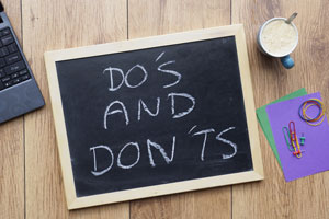 chalkboard do's don'ts