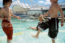 Kids Splashing Royal Caribbean Cruise