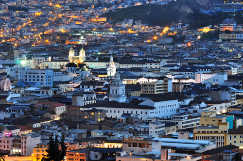 Downtown view of Quito, Ecuador