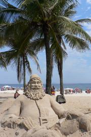 Santa Sand Sculpture