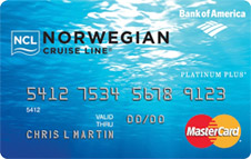 Credit card: Norwegian Cruise Line MasterCard, issued by Bank of America